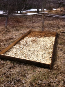2. woodchip base layer complete